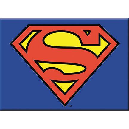 Superman Shield Logo Fridge Magnet 3.5 Inch