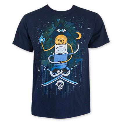 Adventure Time Men's Navy Blue Illuminati Tee Shirt