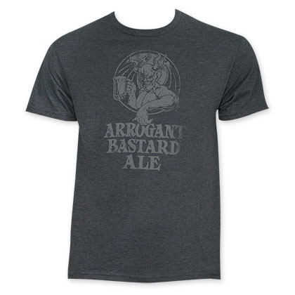 Arrogant Bastard Ale Men's Grey T-Shirt