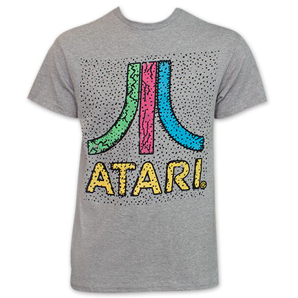Atari Colorful Logo Tee Shirt by FREEZE - Gray