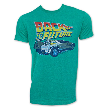 Back To The Future Turquoise DeLorean T-Shirt