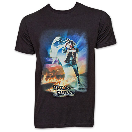 Back To The Future Poster TShirt - Black