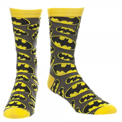 Batman All Over Logo Crew Socks