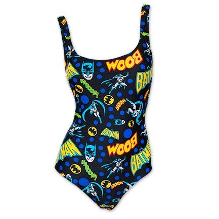 Batman Women's One Piece Pop Art Bathing Suit