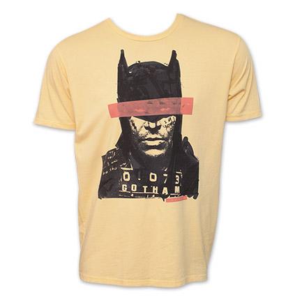 Batman Mugshot DC Comics Vintage Junk Food Brand T-Shirt