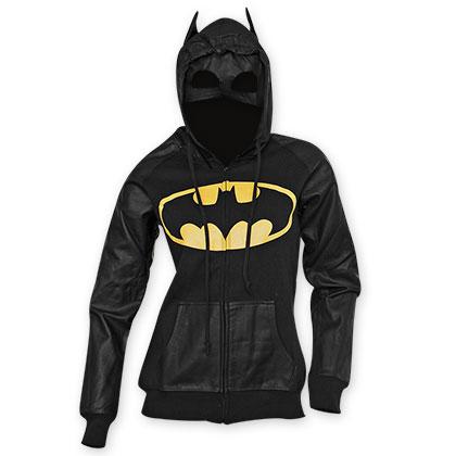 Batman Half Mask Costume Hoodie
