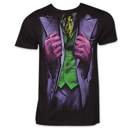 Batman Joker Jacket Costume Halloween TShirt - Black