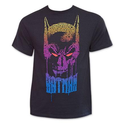 Batman Colorful Text TShirt - Black