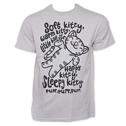 Big Bang Theory Soft Kitty Song Light Grey Graphic TShirt