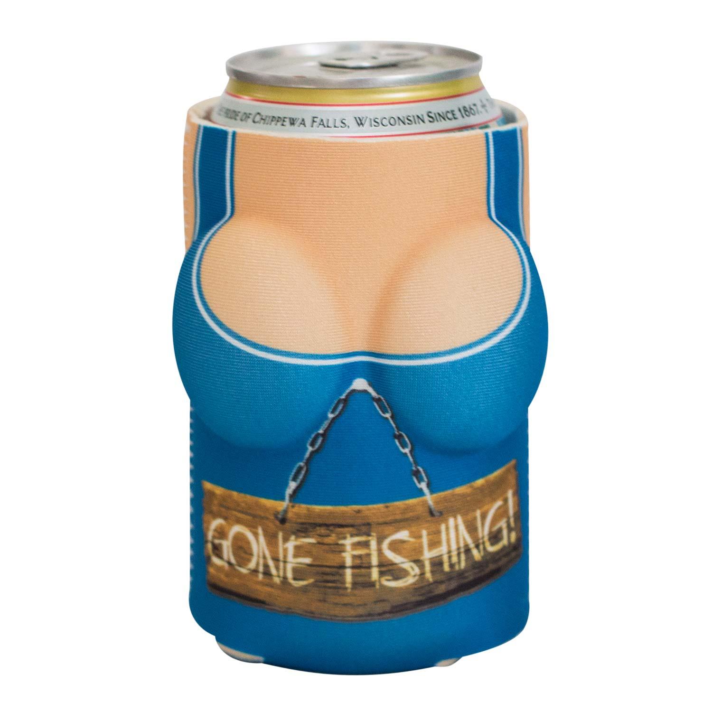 Boobzie gone fishing boob koozie blue ad 5021206 addoway for Pa fishing license cost walmart