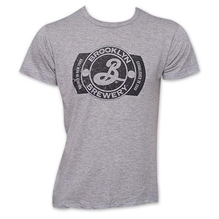 Brooklyn Brewery Logo TShirt - Gray