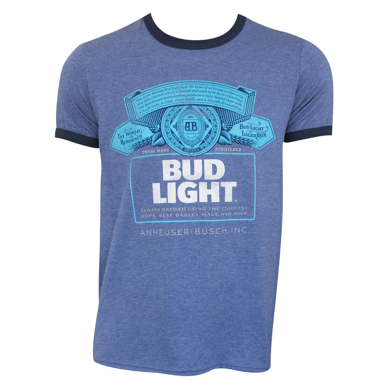 Bud Light Ringer Tee Shirt Blue Ad 5022878 Addoway