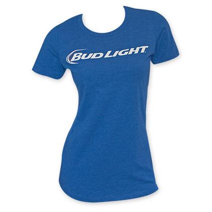 Bud Light Women's Plain Logo T-Shirt