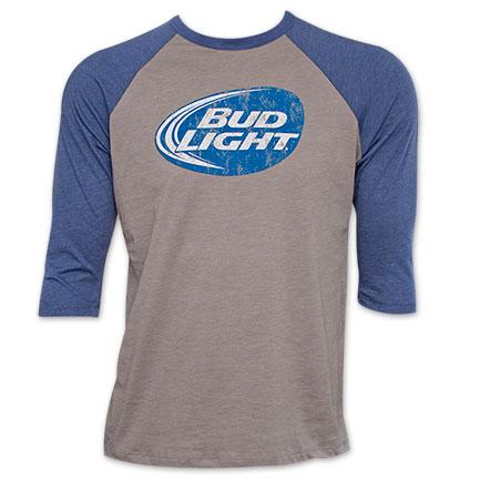 Bud Light Men's 3/4 Sleeve Beer T-Shirt