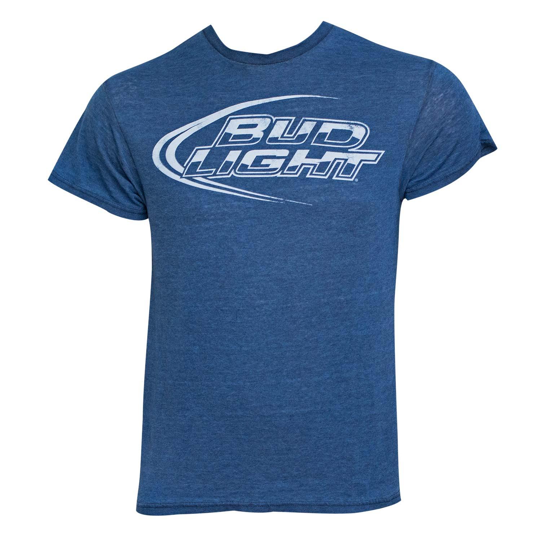 Men 39 S Bud Light T Shirt Blue Ad 5021002 Addoway