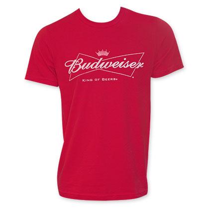Budweiser Red Men's White Logo T-Shirt