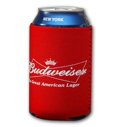 Classic Budweiser Logo Koozie - Red