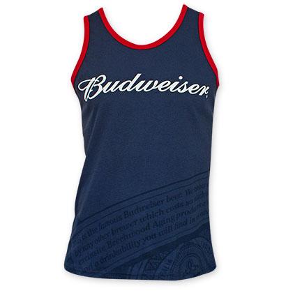 Budweiser Logo Blue Men's Tank Top
