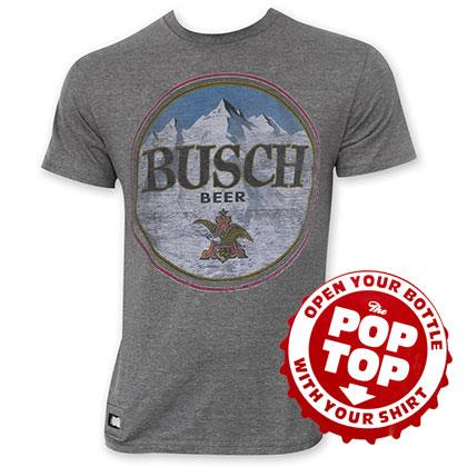 Busch Pop Top Bottle Opener Men's Gray T-Shirt