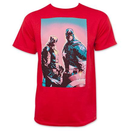 Marvel Men's Captain America Wolverine Red T-Shirt