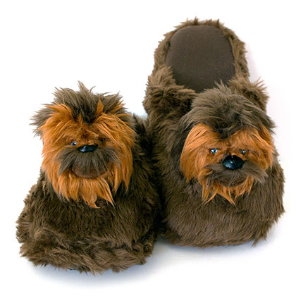 Star Wars Chewbacca Brown Plush Slippers