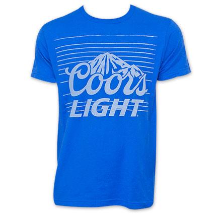 Coors Light Blue Banquet Striped T-Shirt