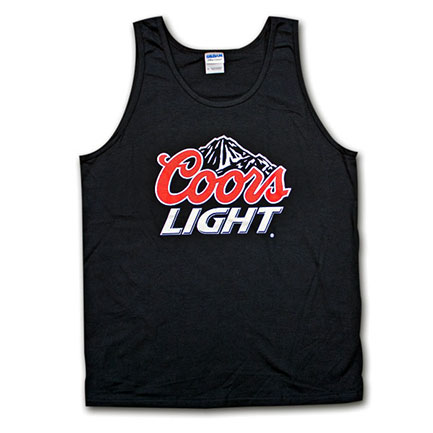 Coors Light Beer Logo Shirt Black Mens Tank Top