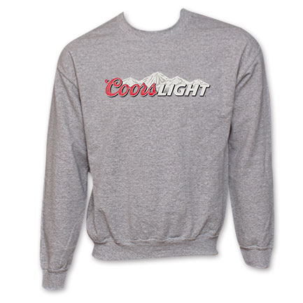 Coors Light Logo Crew Neck Sweatshirt - Grey