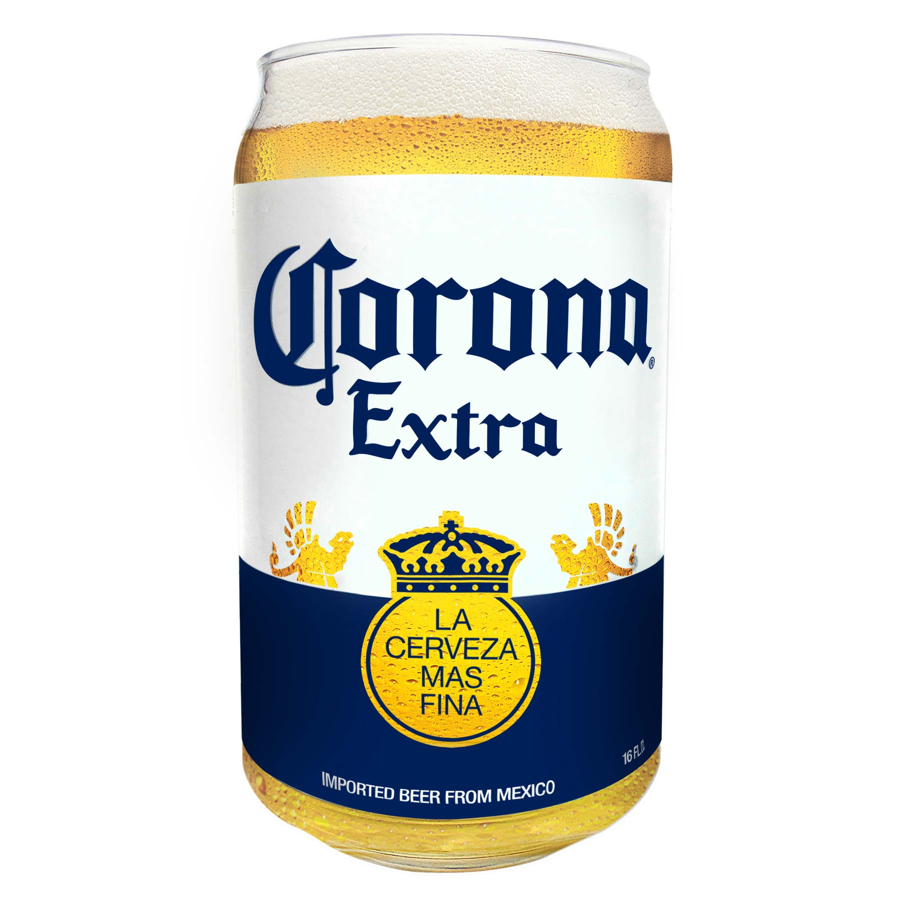 Corona Extra Beer Can Pint Glass Clear EBay