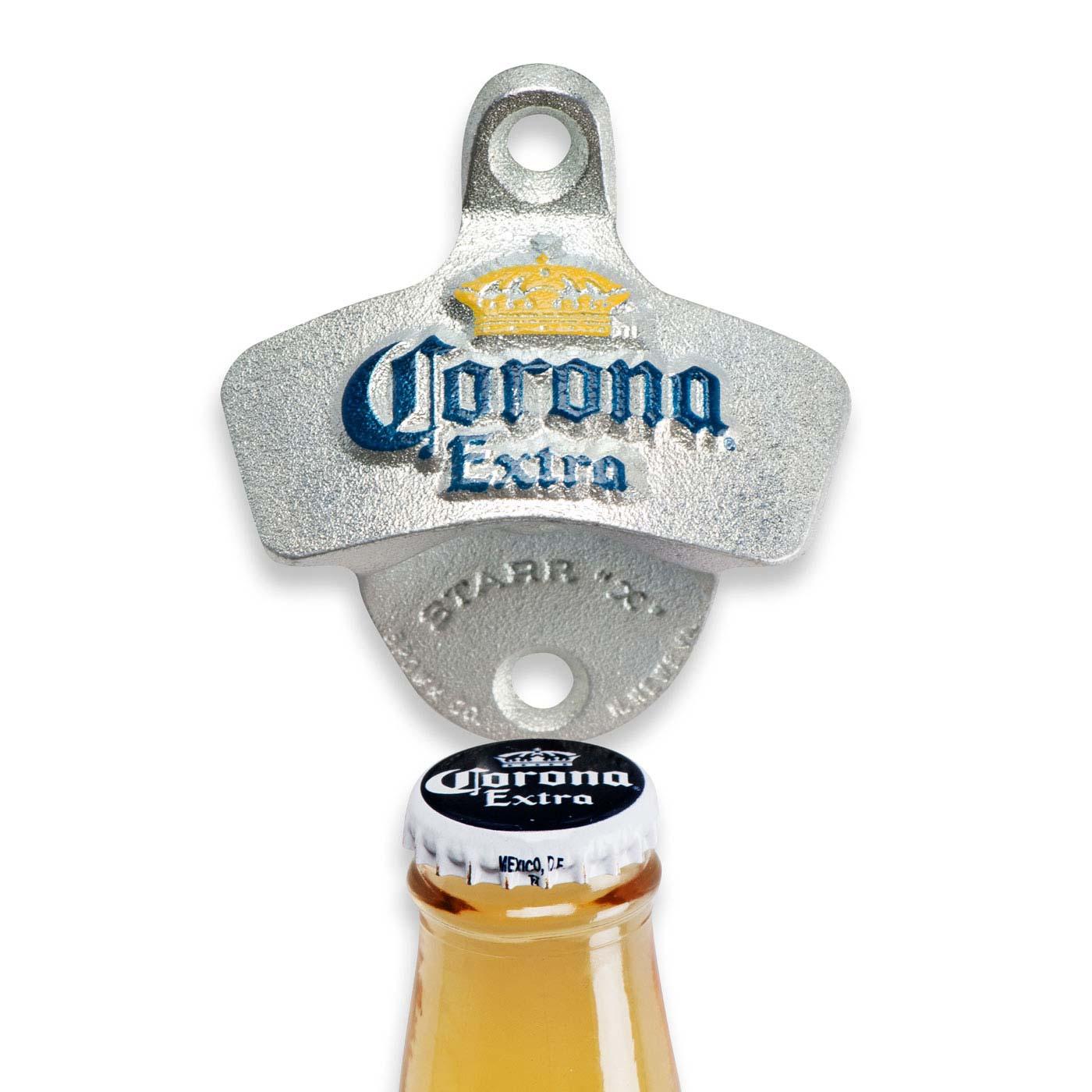 corona wall mounted bottle opener metallic ebay. Black Bedroom Furniture Sets. Home Design Ideas