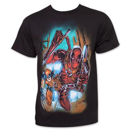 Deadpool Wolverine T-Shirt - Black