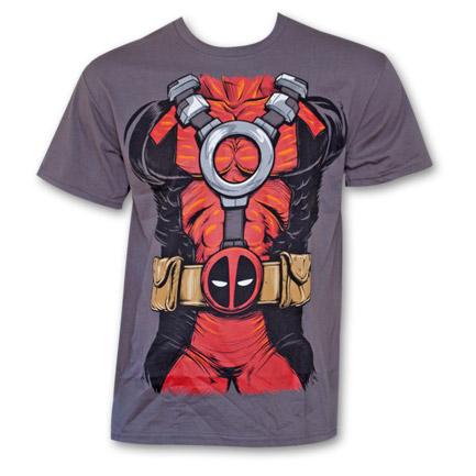 Deadpool Costume Shirt Grey