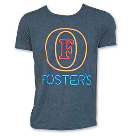 Foster's Neon Sign Tee Grey