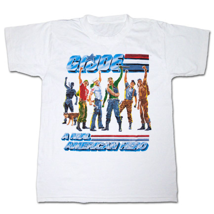 GI Joe American Hero T Shirt White