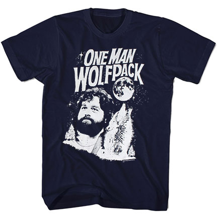 The Hangover One Man Wolf Pack Alan Navy Blue Graphic T Shirt