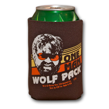 The Hangover One Man Wolf Pack Brown Can Bottle Koozie