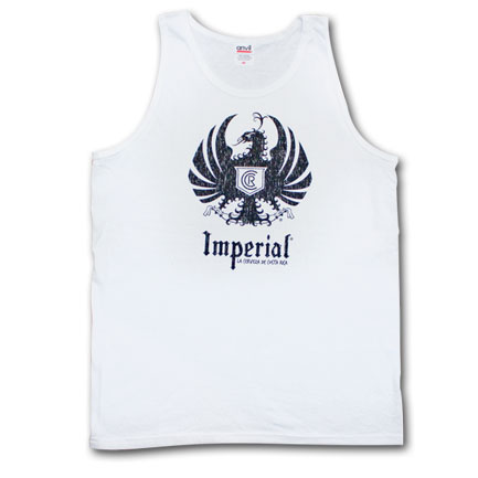 Imperial Cerveza Bold Logoo White Shirt Mens Graphic Tank Top
