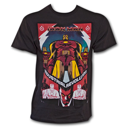 Marvel Iron Man Industrial Revolution Avengers Superhero T-Shirt