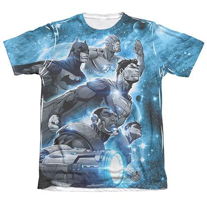 Justice League Atmospheric Sublimation White T-Shirt