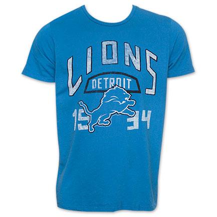 Junk Food NFL Football Detroit Lions 1934 TShirt - Blue