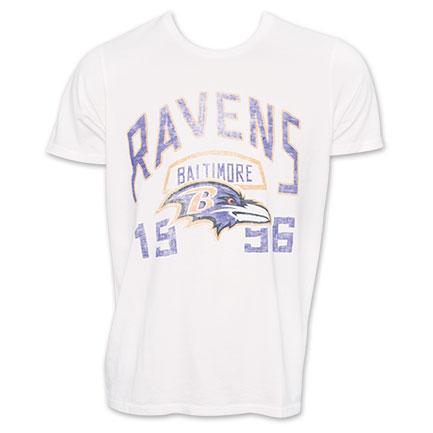 Junk Food NFL Football Baltimore Ravens 1996 TShirt - White