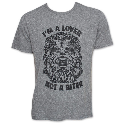 Men's Star Wars Lover Not A Biter Chewbacca Junk Food TShirt