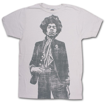 Jimi Hendrix Hand In Pocket Vintage Ivory Graphic T-Shirt