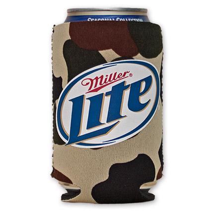 Miller Lite Logo Cooler Can Koozie - Camo