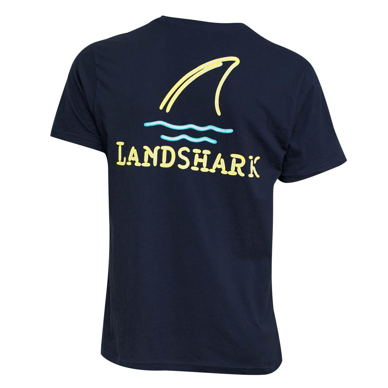 Landshark neon lights tee shirt blue ebay for Silk screen shirts near me
