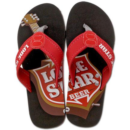 Lone Star Beer Mens Beach Flip Flops Sandals
