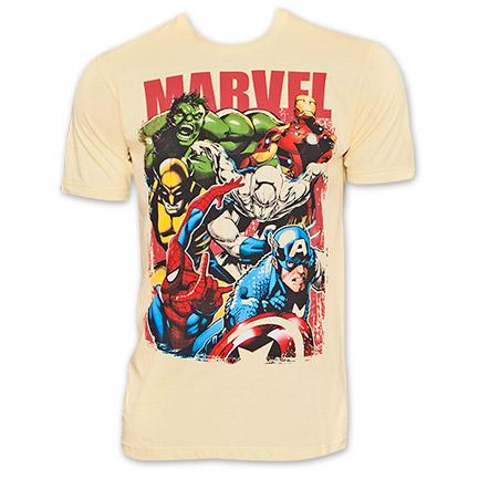 Marvel Superhero Group TShirt - Yellow