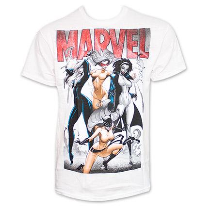 Marvel Female Heros Group Tee  White