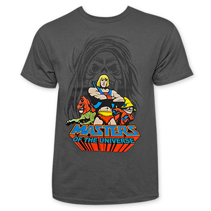 Masters Of The Universe He-Man Charcoal Defenders Tee Shirt