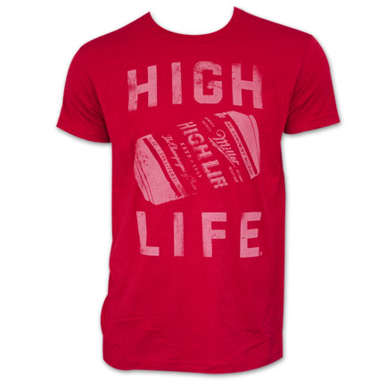 Miller High Life Can Tee Red